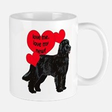 black newf love Mug