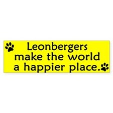 Happy Place Leonberger Bumper Bumper Sticker