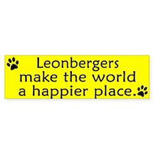 Happy Place Leonberger Bumper Car Sticker