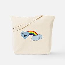 80's girl (black print) Tote Bag