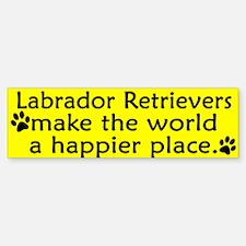 Happy Place Labrador Retriever Bumper Bumper Bumper Sticker