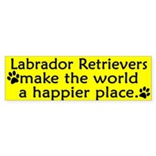 Happy Place Labrador Retriever Bumper Bumper Sticker