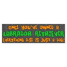 Just a Dog Labrador Retriever Bumper Bumper Sticker