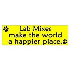 Happy Place Lab Mix Bumper Bumper Sticker