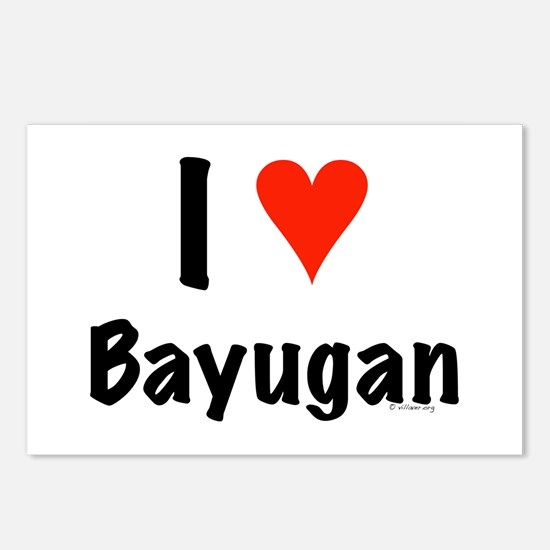 I love Bayugan Postcards (Package of 8)