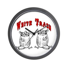 White Trash Apparel Wall Clock