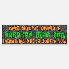 Just a Dog Karelian Bear Dog Bumper Bumper Bumper Sticker