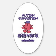 AUTISM AWARENESS 10 Oval Decal