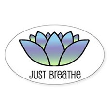 Just Breathe Oval Stickers