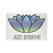 Just Breathe Rectangle Magnet