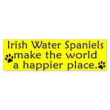 Happy Place Irish Water Spaniel Bumper Bumper Sticker