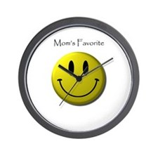 Mom's Favorite Smiley Face Wall Clock
