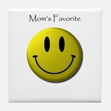 Mom's Favorite Smiley Face Tile Coaster