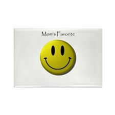 Mom's Favorite Smiley Face Rectangle Magnet