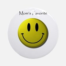 Mom's Favorite Smiley Face Ornament (Round)
