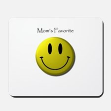 Mom's Favorite Smiley Face Mousepad