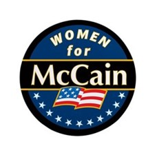 "Women for McCain (blue) 3.5"" Button"