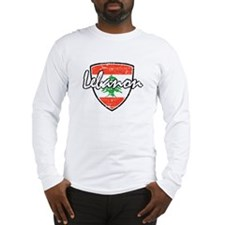 Lebanese distressed Flag Long Sleeve T-Shirt