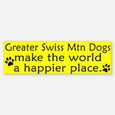 Happy Place Greater Swiss Mtn Dog Bumper Bumper Bumper Sticker