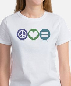Peace, Love, Equality Women's T-Shirt