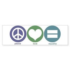 Peace, Love, Equality Bumper Bumper Sticker