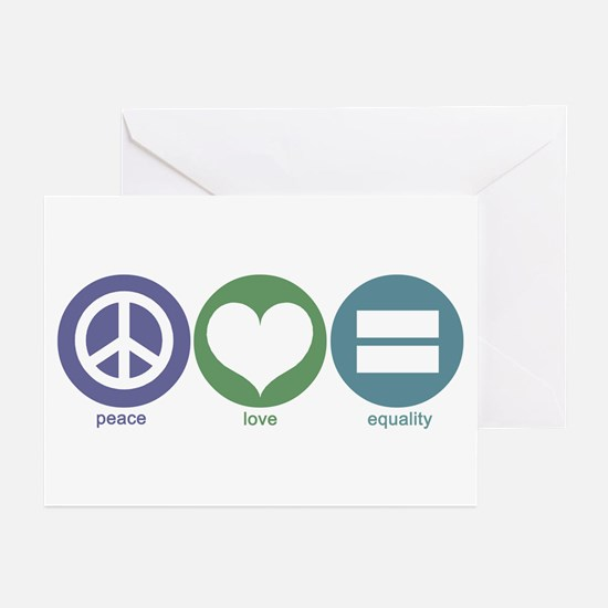 Peace, Love, Equality Greeting Cards (Pk of 10