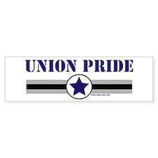 UNION PRIDE STAR Bumper Bumper Bumper Sticker