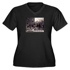 Prohibition Women's Plus Size V-Neck Dark T-Shirt