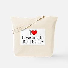 """I Love (Heart) Investing In Real Estate"" Tote Bag"