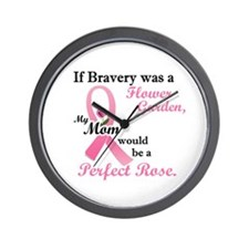 Bravery A Flower Garden 1 (Mom) Wall Clock