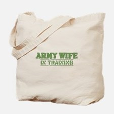 Army Wife in Training (Fiance Tote Bag