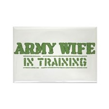 Army Wife in Training (Fiance Rectangle Magnet