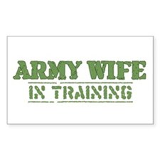 Army Wife in Training (Fiance Rectangle Decal