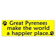 Happy Place Great Pyrenees Bumper Bumper Sticker
