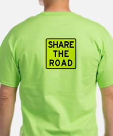 Bike Sign Share the Road - T-Shirt