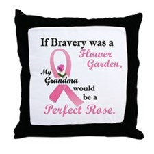 Bravery A Flower Garden 1 (Grandma) Throw Pillow