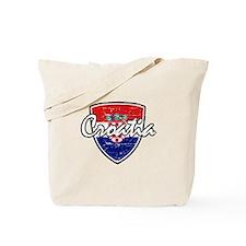 Croatia distressed Flag Tote Bag