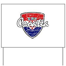 Croatia distressed Flag Yard Sign