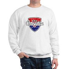 Croatia distressed Flag Sweater
