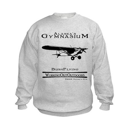 Alaska's Gym Bush Plane Kids Sweatshirt