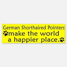Happy Place German SH Pointer Bumper Bumper Bumper Sticker