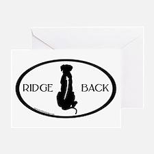 Ridgeback Oval W/ Text Greeting Card
