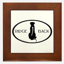 Ridgeback Oval W/ Text Framed Tile