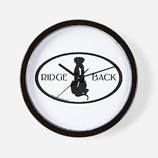 Ridgeback Oval W/ Text Wall Clock