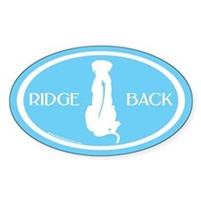 Ridgeback Oval W/ Text (white/blue) Oval Decal