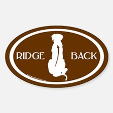 Ridgeback Oval W/ Text (wh/brown) Oval Decal