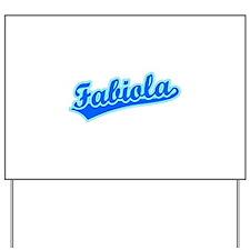 Retro Fabiola (Blue) Yard Sign