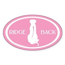Ridgeback Oval W/ Text (white/pink) Oval Decal