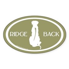 Ridgeback Oval W/ Text (white/sage) Oval Decal