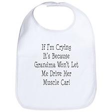 Drive Grandmas Muscle Car Bib